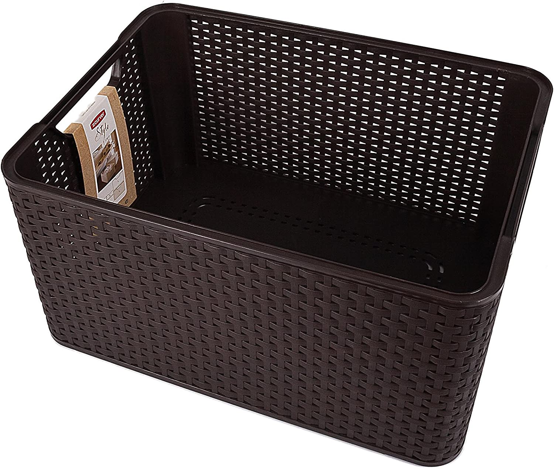 Curver Style, Caja Organizadora, Chocolate, L (30 L - 44x33x23 cm): Amazon.es: Hogar