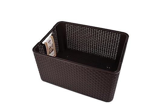 Curver Style, Caja Organizadora, Chocolate, L (30 L - 44x33x23 cm)