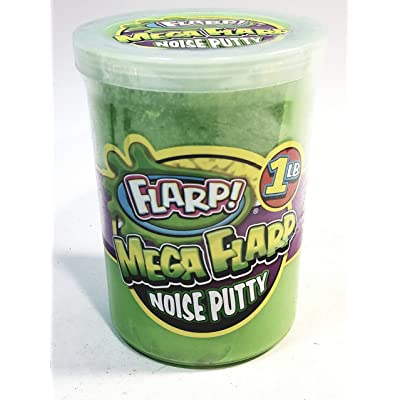 Flarp Mega Radioactive Green Large 1LB Noise Putty Make 6 Awful Fart Sounds Gag Largest Container of Goop: Toys & Games