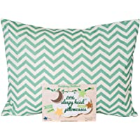 Little Sleepy Head Toddler Pillowcases - Organic Collection (Chevron Teal)