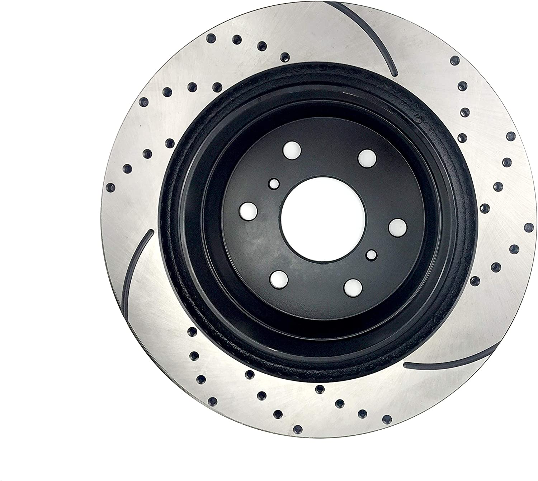 Brake Rotors and Ceramic Pads for 2009-2012 2013 Chevy Silverado 1500 LTZ 6.2L