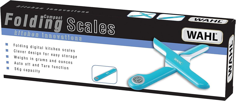 azul B/áscula digital plegable para cocina 5 kg Wahl Kitchen Innovations