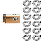 SEBSON Einbauleuchte schwenkbar silber / Einbaustrahler (LED / Halogen), 12er Pack