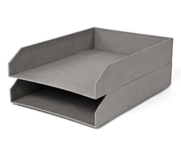 bigso hakan stackable letter tray gray