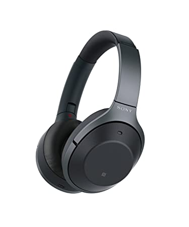 Sony Noise Cancelling Headphones WH1000XM2 Over Ear Wireless Bluetooth Headphones with Microphone – Hi Res Audio and Active Sound Cancellation – Black 2017 model
