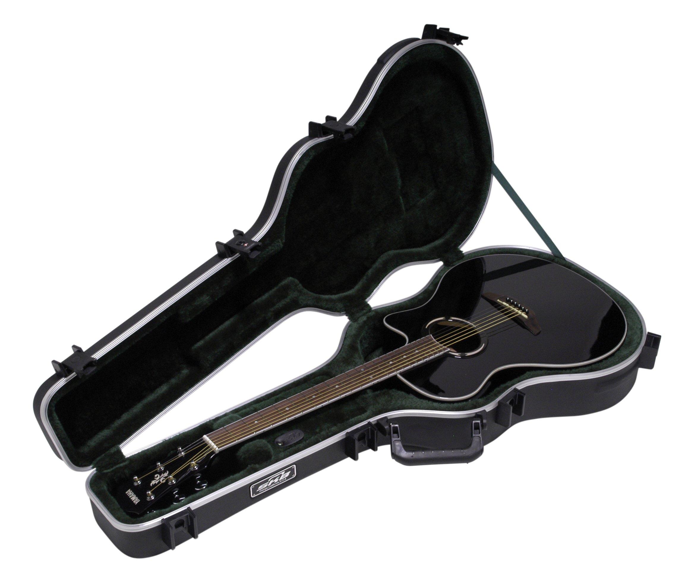 SKB Thin-line Acoustic-Electric/Classic Shaped Hardshell - TSA Latch, Over-Molded Handle