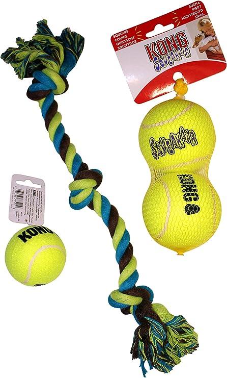 Paquete de juguetes para perros: (2) pelotas de tenis Kong tamaño ...