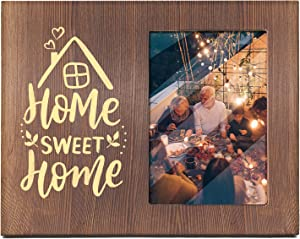 Ku-dayi Home Sweet Home Quotes Photo Picture Frame - Inspirational Housewarming Gifts New Home Gift Farmhouse Decor