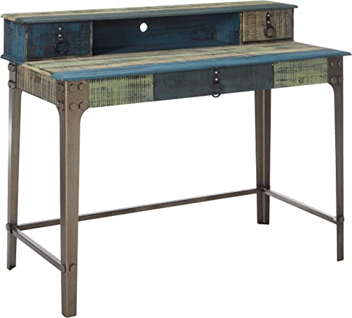 Powell Furniture Calypso Desk, Wood with Multi Color Accents,