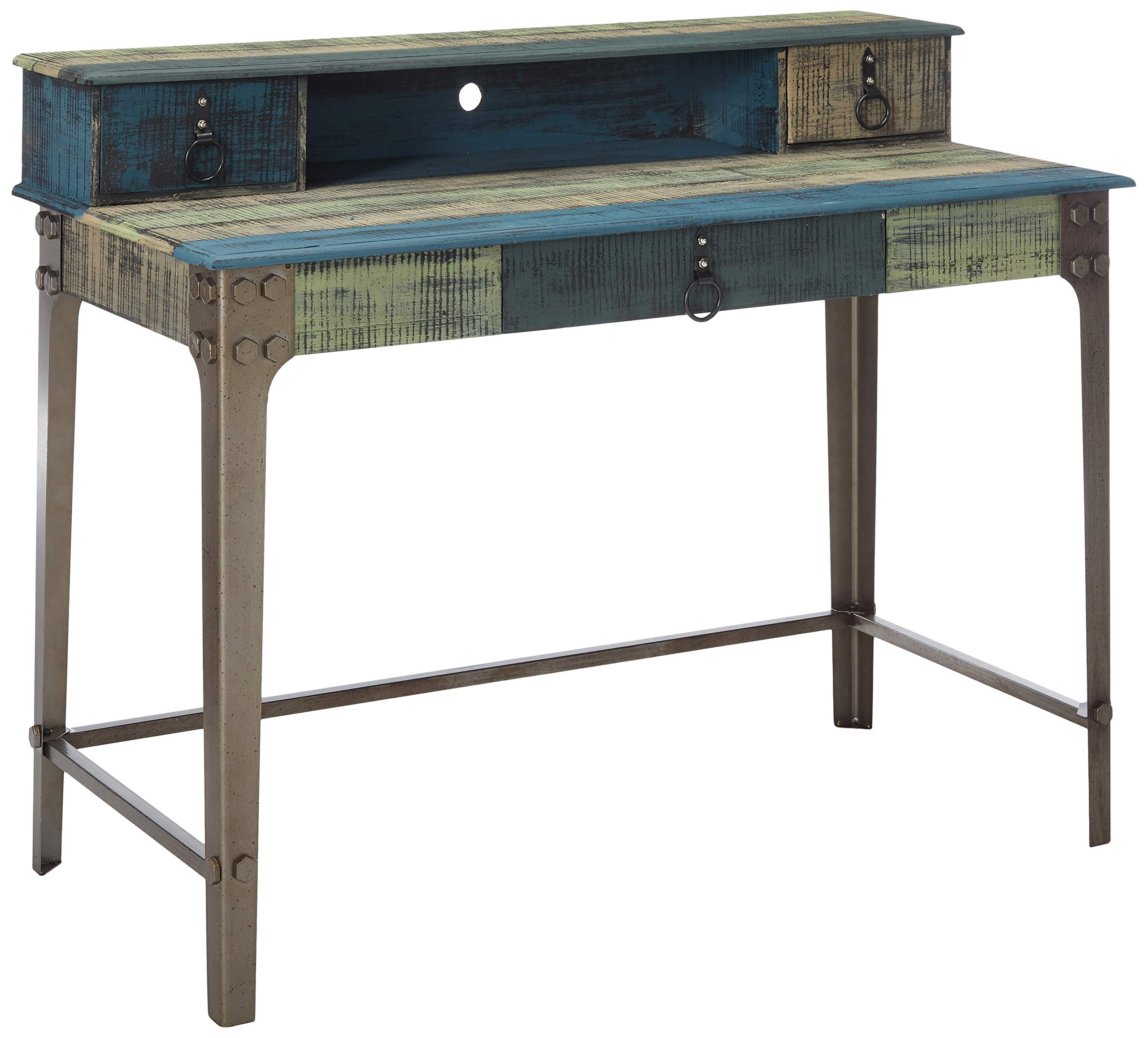 Powell's Furniture 114-238 Calypso Desk, Wood with Multi Color Accents, by Powell's Furniture