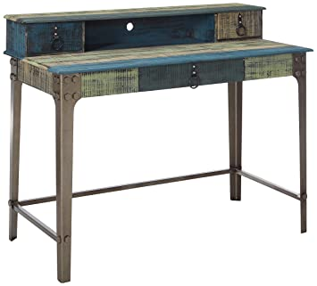 Groovy Powells Furniture 114 238 Calypso Desk Wood With Multi Color Accents Download Free Architecture Designs Scobabritishbridgeorg