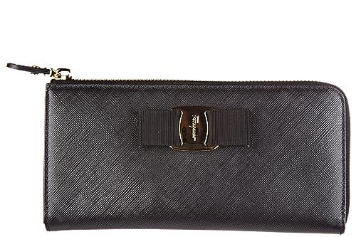 8858825b4 Salvatore Ferragamo monedero cartera bifold de mujer en piel nuevo  continentale: Amazon.es: Zapatos y complementos