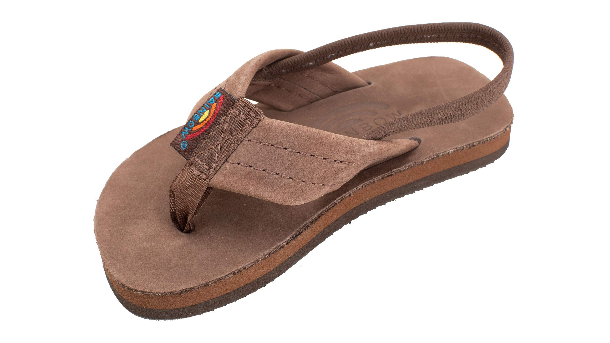 Rainbow Sandals Kid's Single Layer Premier Leather Sandals, Expresso, Toddler 7-8 B(M) US by Rainbow Sandals