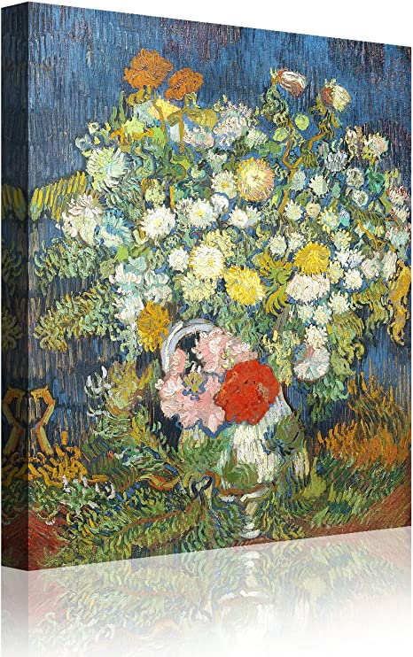 Amazon Com Ipic Bouquet Of Flowers In A Vase Vincent Van Gogh Art Reproduction Giclee Canvas Prints Wall Art For Home Decor 24 F 24x30 Posters Prints