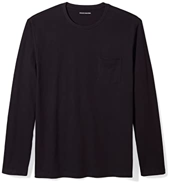 4d7677df Amazon.com: Amazon Essentials Men's Regular-Fit Long-Sleeve Pocket T ...