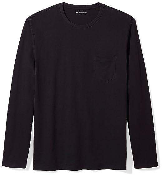 a250481568 Amazon Essentials Men's Regular-Fit Long-Sleeve Pocket T-Shirt