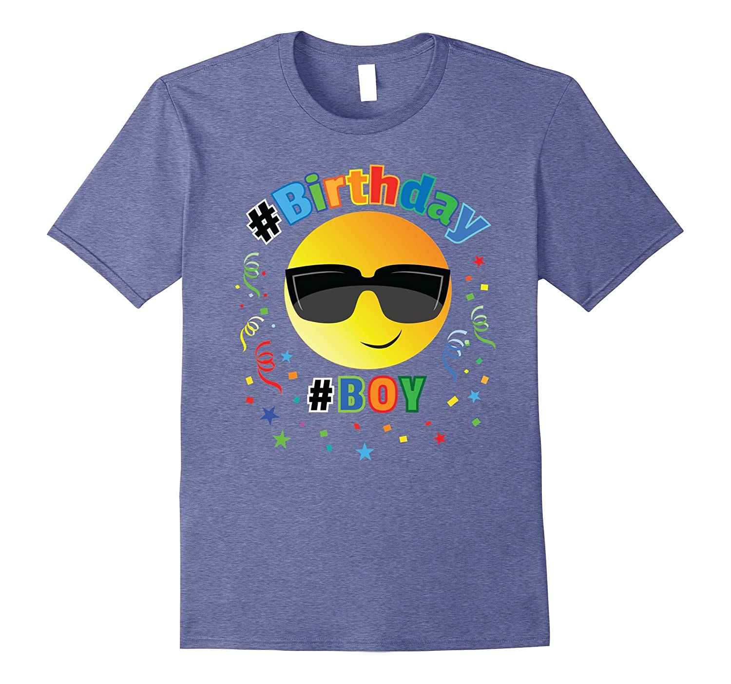 Cool Emoji Birthday Shirt For Boys 6 7 8 9 10