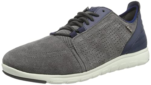 Geox Ou Xunday 2fit B, Chaussures Pour Homme, Gris (anthracite / Lt Navyc9ab4), 45 Eu