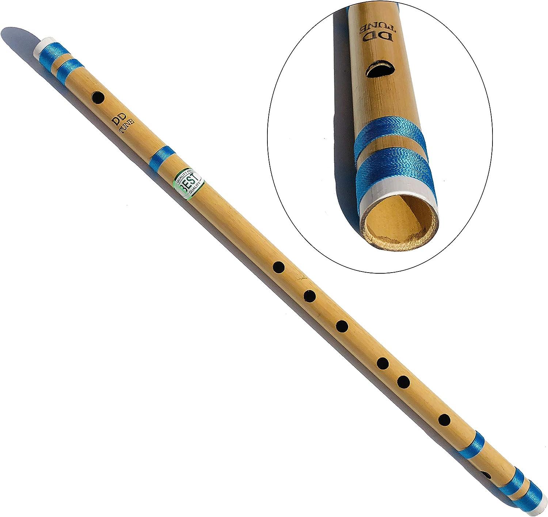 Escala transversal soplada lateral Flauta de concierto profesional DD de 24 pulgadas DD 2 pies o 61 cm | Flauta de bamb/ú Bansuri