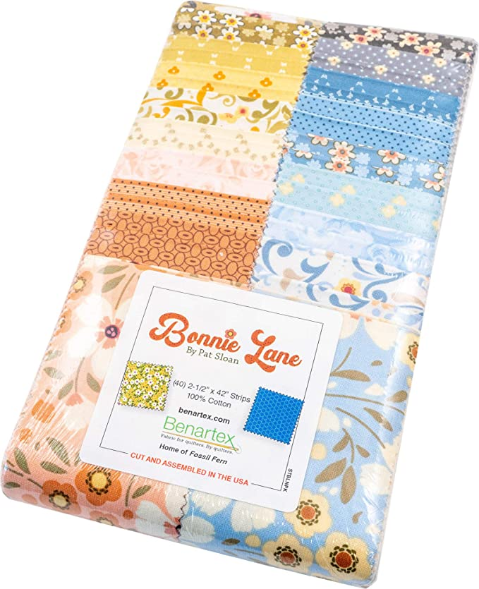 Pat Sloan Bonnie Lane 5X5 Pack 42 5-inch Squares Charm Pack Benartex