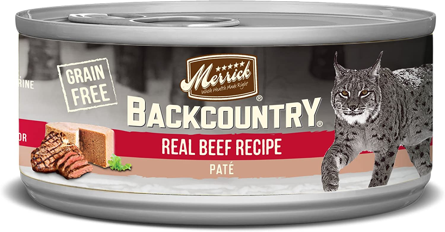 Merrick Backcountry Grain Free Pate Canned Wet Cat Food (Case of 24)