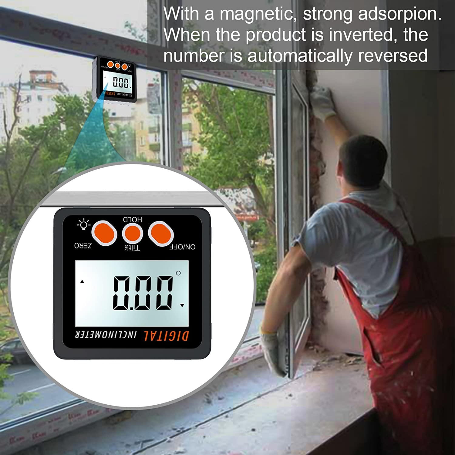 Proster Digital Protractor Angle Gauge/Bevel Gauge/Angle Finder Backlight LCD Protractor Level Box Inclinometer with Magnetic Based Waterproof - - Amazon. ...