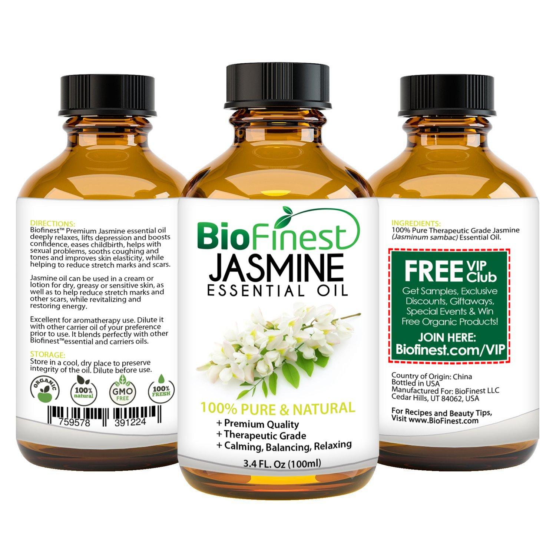 Amazon Biofinest Jasmine Essential Oil 100 Pure Undiluted