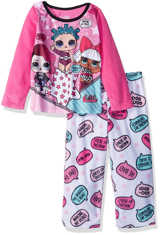 136b24945 Amazon.com  AME Girls  L.o.l. Surprise 2-Piece Fleece Pajama Set ...