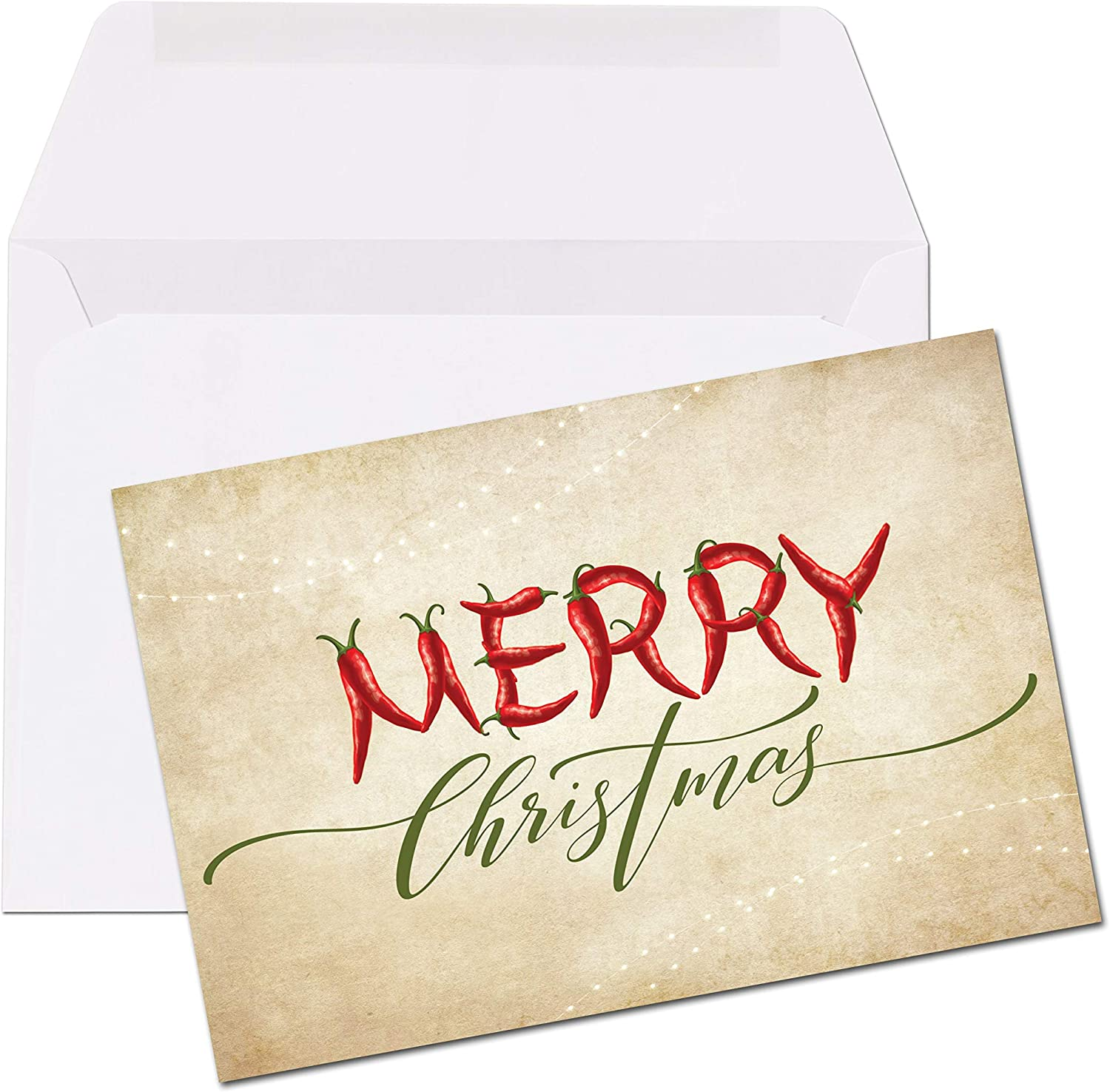 4 x 6 Folded Note Card Merry Christmas