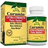 Terry Naturally Curamin Extra Strength - Non-Addictive Pain Relief Supplement with Curcumin from Turmeric, Boswellia & DLPA -