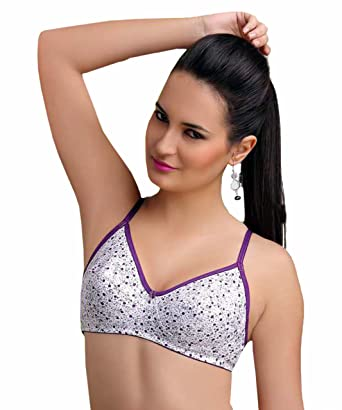 5bfd0ca0e06 Saloni Cotton Floral Printed Non-Wired Non Padded Bra With Colorful  Straps(Pack of
