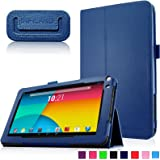 Infiland Slim Folio Custodia Case in pelle Smart Ultra sottile e leggera Case Cover Custodia per iRULU eXpro X1a Tablet 9 Pollici,JYJ 9 Pollici Android 4.4 Tablet PC, Haehne 9 Pollici Android 4.4 Tablet PC(Si prega di verificare la lista completa di tablet compatibile sotto la Descrizione del Prodotto)(Marina Militare)