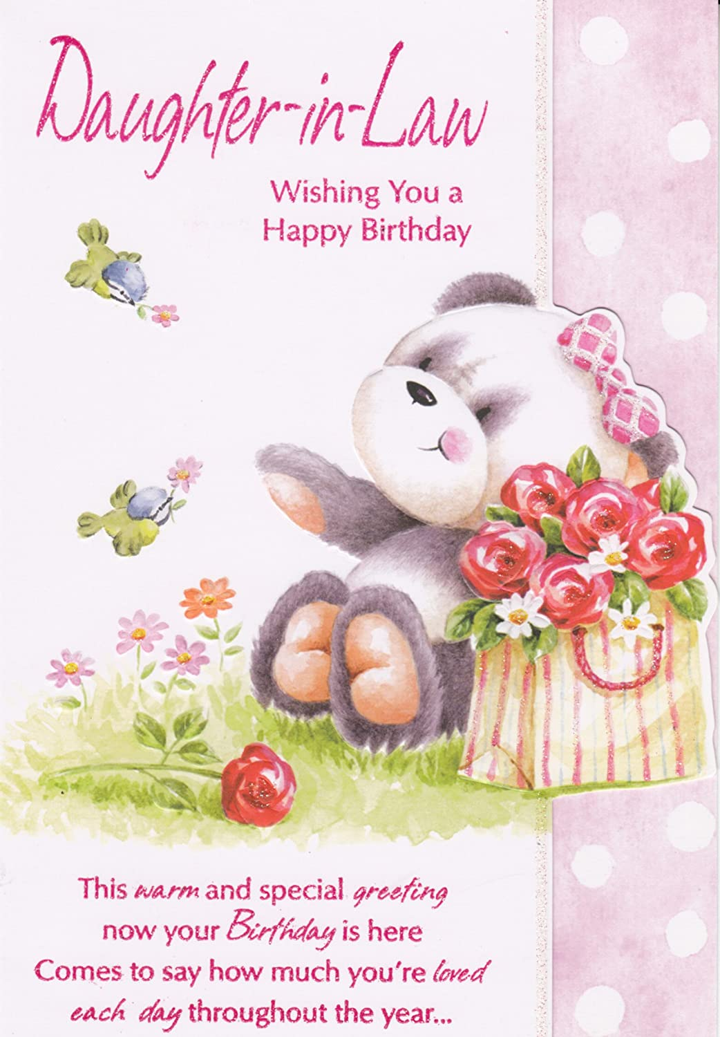 DaughterinLaw Wishing You A Happy Birthday Cute Panda Birthday – Happy Birthday Daughter in Law Cards