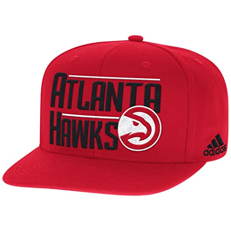 0e5ed5e96f8 Amazon.com   NBA Atlanta Hawks Men s High Box Flat Brim Snapback Cap ...