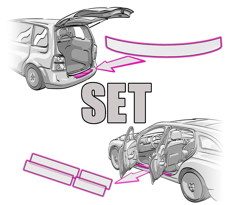 Ladekantenschutz mit Einstiegsleisten Set und Rakel in Tranparent von Wizuals/©