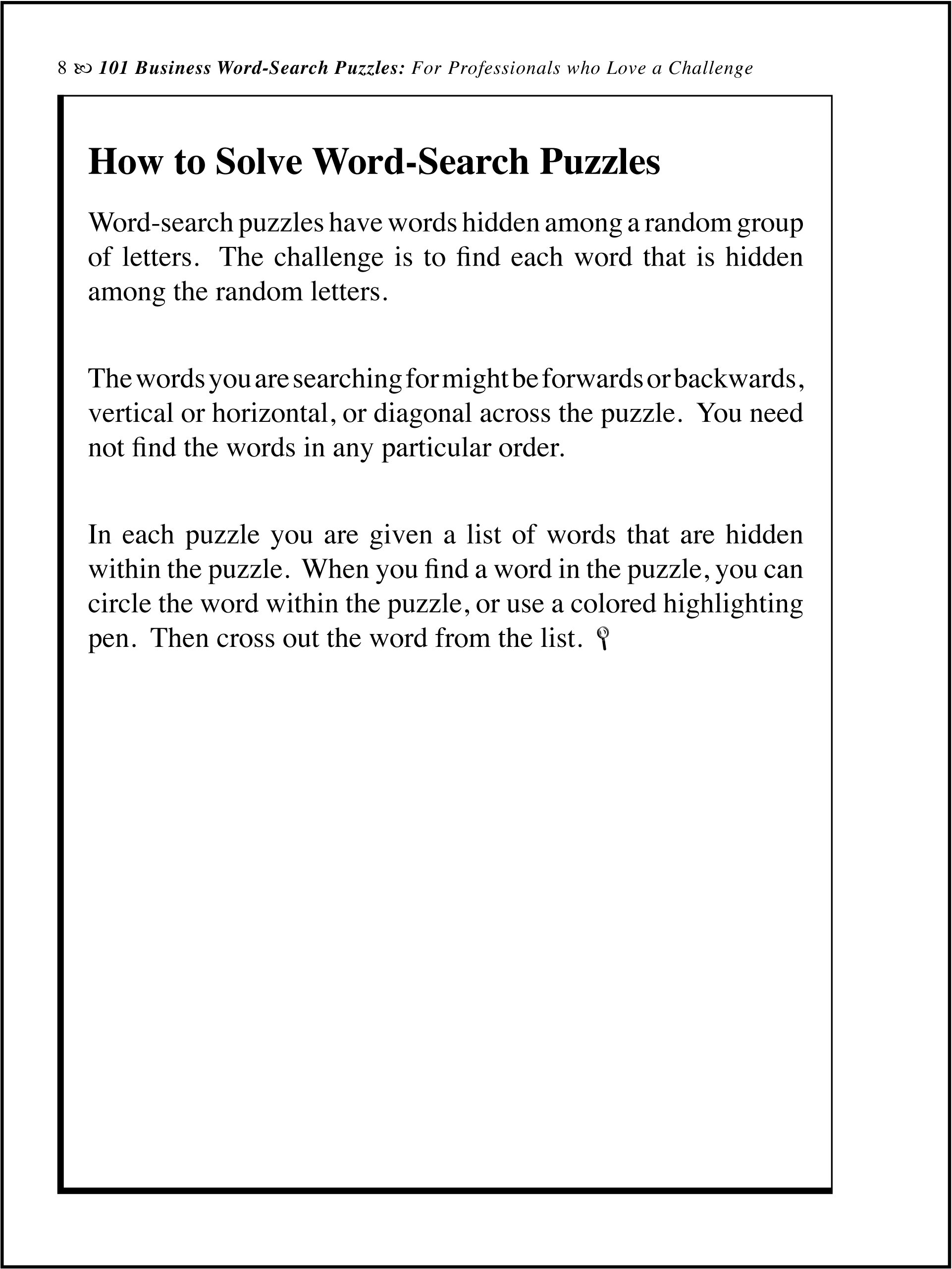 101 business word search puzzles jr joseph c kunz