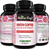 Pure Green Coffee Bean Extract - Green Coffee Extract Caffeine Pills 50% Chlorogenic Acid Natural Energy Pills for Immune Sup
