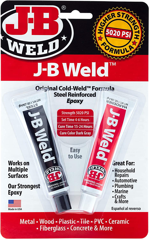 J-B Weld 8265S Original Cold-Weld Steel Reinforced Epoxy - 2 oz.: Automotive