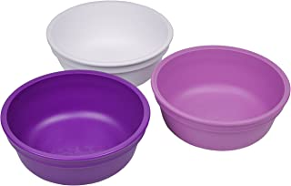product image for Re-Play Made in USA 3pk 12 oz. Bowls in White, Purple and Amethyst | Made from Eco Friendly Heavyweight Recycled Milk Jugs and Polypropylene - Virtually Indestructible (Violet)