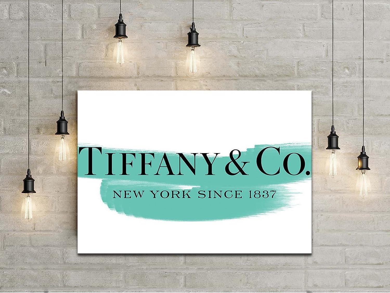 Amazon.de: Rahmen Moderne Tiffany & Co Pinselstrich Druck auf ...
