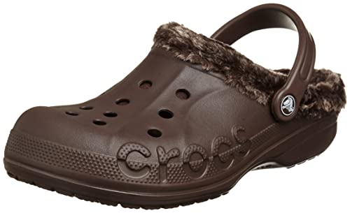 162095d34c44 Crocs Baya Heathered Lined Men Clog in Brown  Buy Online at Low Prices in  India - Amazon.in
