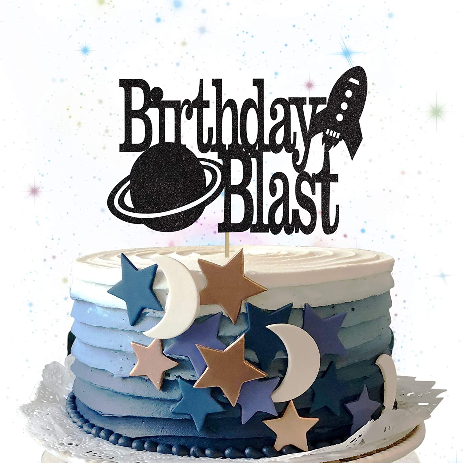 Awesome Home Living Blast Off Cake Topper Outer Space Party Birthday Funny Birthday Cards Online Sheoxdamsfinfo