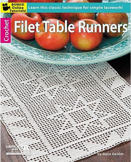 Rose Filet Runner Doily Favorite Filet crochet pattern leaflet