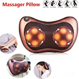 8 Driver Massage Pillow Home Car Massager Cushion Neck Back Shoulder Body Legs