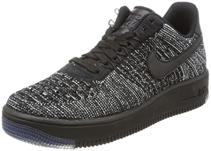 NIKE W AF1 Flyknit Low Womens Basketball-Shoes 820256-007 5 - Black Black 8920328edec0