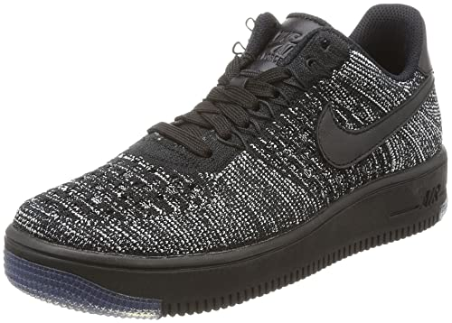 wholesale dealer 47585 7fd8e NIKE W AF1 Flyknit Low Womens Basketball-Shoes 820256-0075 - BlackBlack