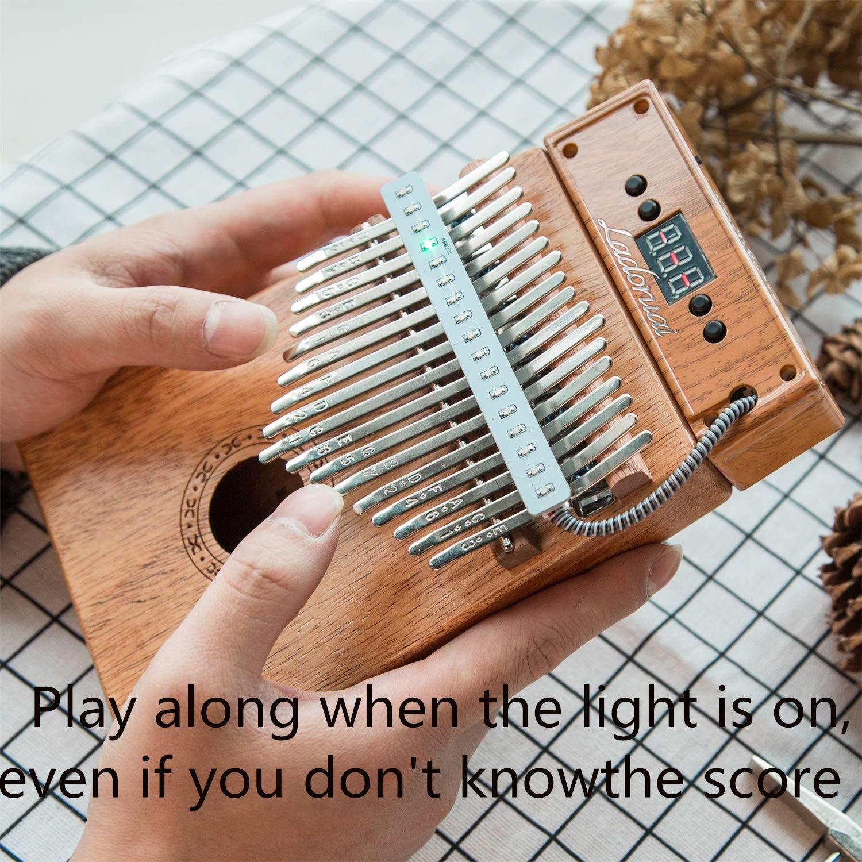 Ladoruai 17 key Kalimba, Smart Illuminated Thumb Piano, Tuning Hammer and Study Instruction(120 songs option) by ladoruai (Image #5)