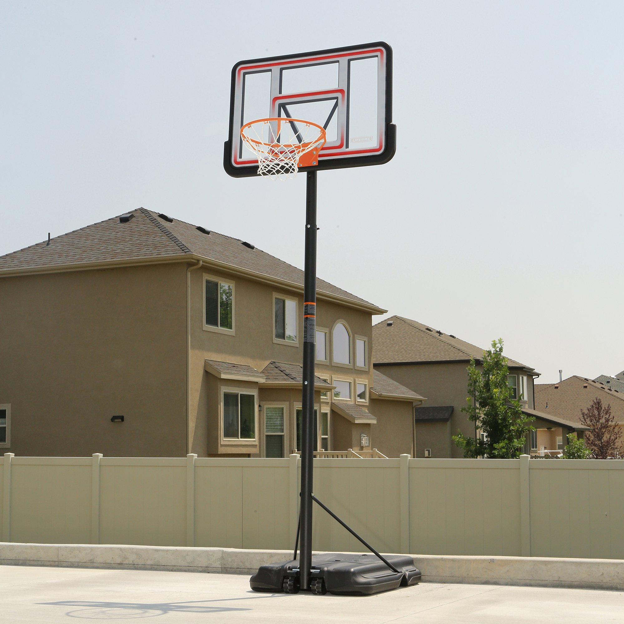 Lifetime 1269 Pro Court Height Adjustable Portable Basketball System, 44 Inch Backboard by Lifetime (Image #6)