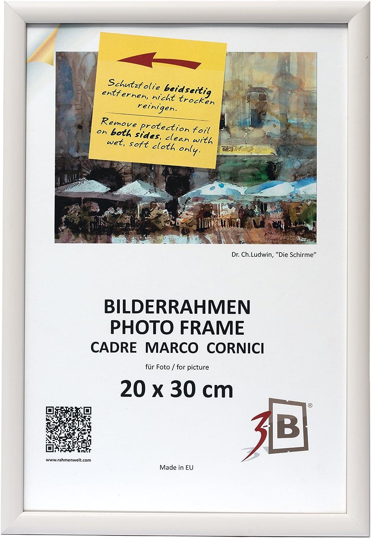 Cadre pour Photo Blanc Cadre en Bois 3-B Set de 3 pi/èces Cadres ULM 9x13 cm