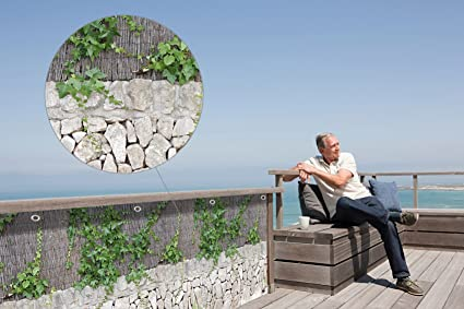 """Balkon-Sichtschutz /""""Mauer-Blumen/"""",1 Stück"""